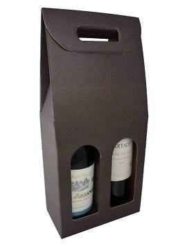 2-fles handvat wijndoos koffie